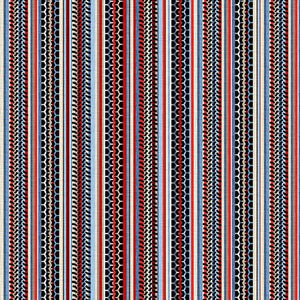 American Muscle Patriotic Tire Tracks Stripe Fabric by the Yard and Half Yard