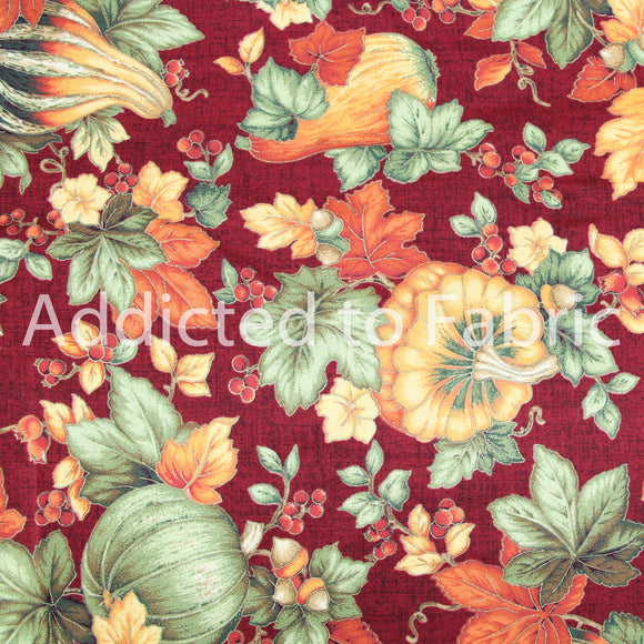 Thanksgiving Fabric, V.I.P. Cranston Fabric by the Yard, by the Half Yard Autumn, Fall