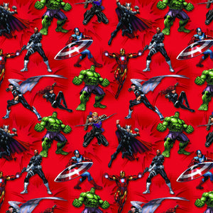 Avengers Action, Marvel Comics Power Heroes Fabric by the Yard