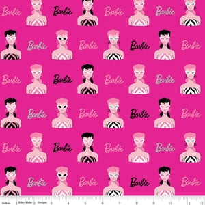 Barbie Fabric by the Yard or Half Yard, Main Pink