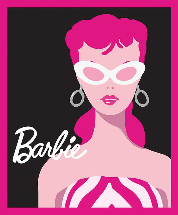 Barbie Fabric Panel, Black