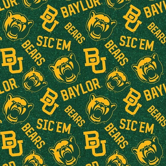 Baylor Bears Fabric by the Yard or by Half Yard, Baylor University