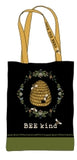 Bee Kind Market Tote Bag Pattern Panel C23749-99, Northcott by Jade Mosinski