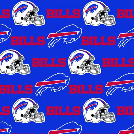Buffalo Bills Fabric by the Yard or Half Yard, NFL Licensed Cotton Fabric