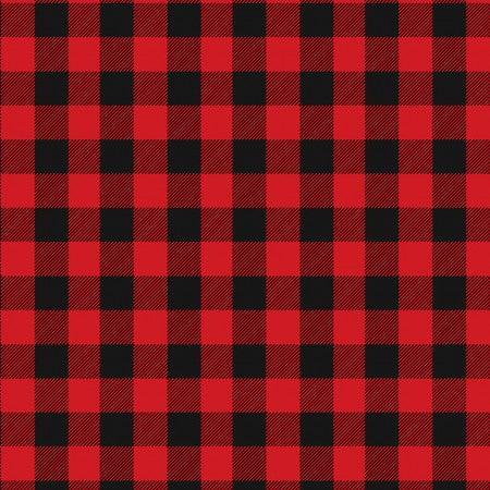 Red and Black Buffalo Plaid Fabric by the Yard and Half Yard, Timeless Treasures