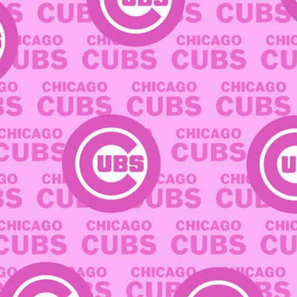 Chicago Cubs Pink Fabric, LA Dodgers by the Yard or Half Yard, MLB Cotton Fabric
