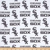 Chicago White Sox Fabric by the Yard or Half Yard, Licensed MLB, Cotton Fabric