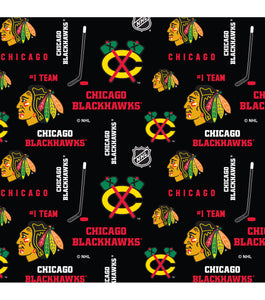 Chicago Blackhawks Fabric by the Yard, by the Half Yard, NHL Cotton