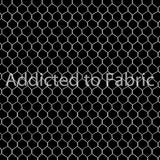 Chicken Wire Fabric by the Yard or Half Yard, Black, Farm