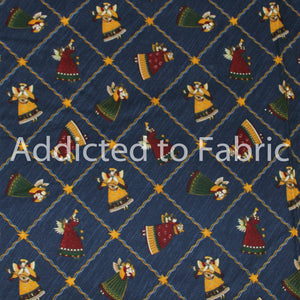 Debbie Mumm Christmas Fabric by the Yard, by the Half Yard, Angels on Navy Blue