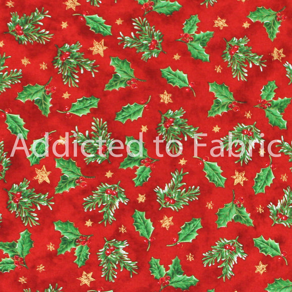 Holiday Rhapsody, Christmas Fabric by the Yard, by the Half Yard, Brother Sister Design