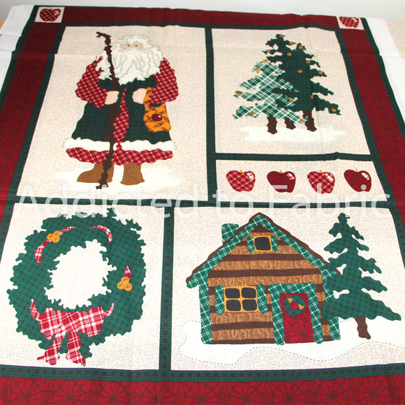 Northwoods Noel Panel, Wall Hanging Panel, Fabric Panel by Leslie Beck