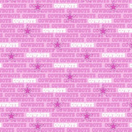 Dallas Cowboys Pink Fabric by the Yard or Half Yard, NFL Cotton Fabric