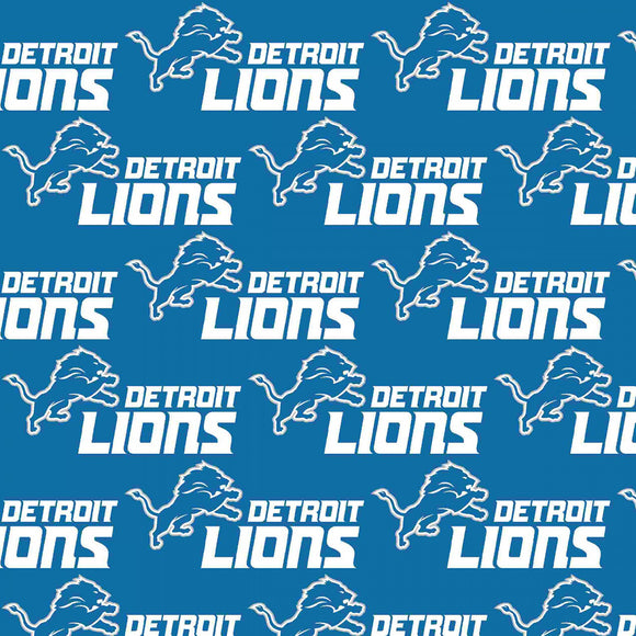 Detroit Lions Fabric by the Yard or Half Yard, NFL Cotton Fabric, NFL Fabric