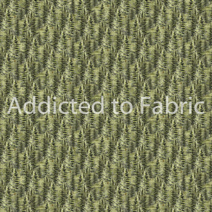 FLANNEL - Lakeside Lodge Fabric by the Yard, Half Yard, Northcott, Packed Trees