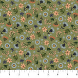 Bee Kind Floral Toss Olive, Fabric by the Yard, Northcott, Honeycomb
