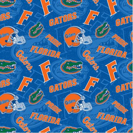 Florida Gators Fabric by the Yard or by Half Yard, Tone on Tone