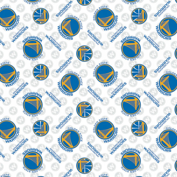 Golden State Warriors Fabric by the Yard or Half Yard, NBA Licensed Fabric, Cotton