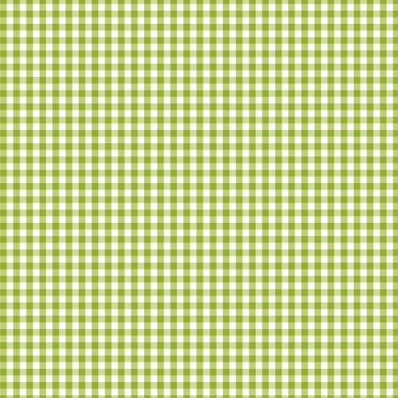 Green Gingham Fabric by the Yard or by the Half Yard, Splash of Lemon