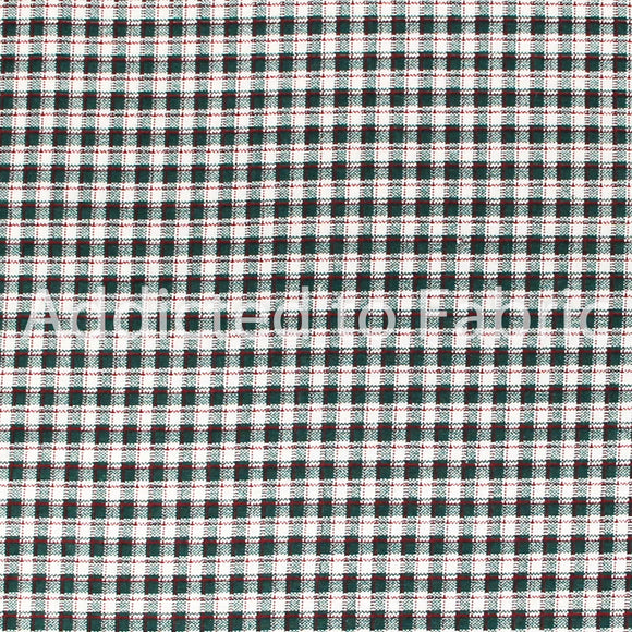 Green Plaid Fabric by the Half Yard, Cotton