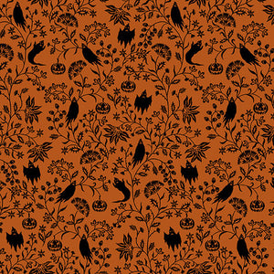 Harvest Moon Ghostly Vine, Halloween Fabric by the Yard, Half Yard, Studio E