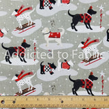 Holiday Road Trip, Christmas Dogs Fabric by the Yard, by the Half Yard, Studio E, Labradors