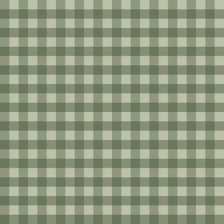 Homestead Life Gingham Green Fabric by the Yard, Fabric by the Half Yard, Farm, Riley Blake