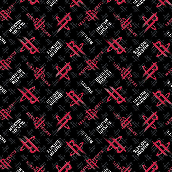 Houston Rockets Fabric by the Yard or Half Yard, NBA Licensed Fabric, Cotton