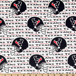 Houston Texans Fabric by the 1/4 Yard, Licensed NFL Cotton