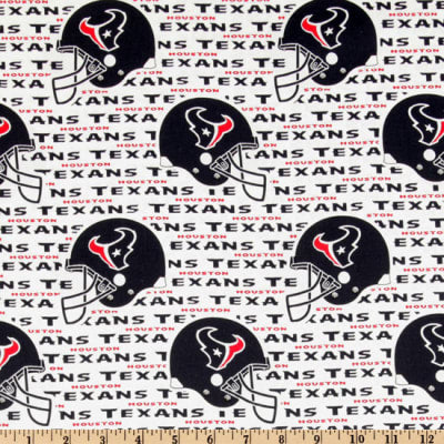 Houston Texans Fabric by the Yard or Half Yard, Licensed NFL Cotton