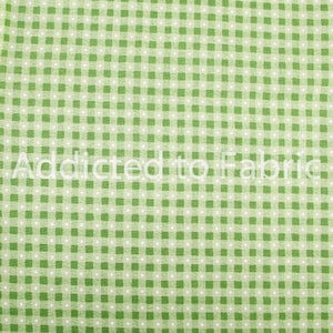 Huff-N-Puff Checker Fabric by the Yard, by the Half Yard, Green