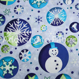 Christmas Fabric by the Yard or Half Yard, Cotton, Christmas Blues by Springs Creative
