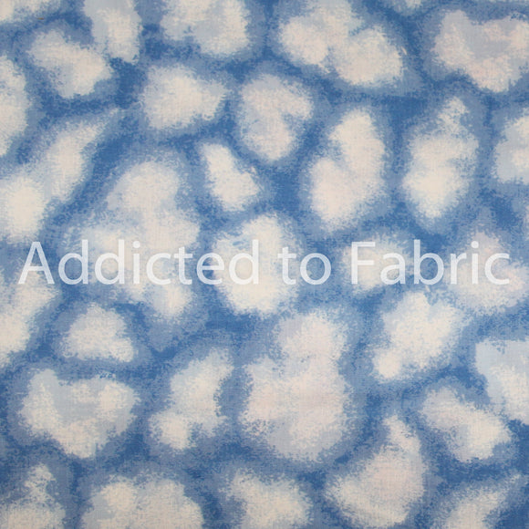 Clouds, Fabric by the Yard, by the Half Yard, Cotton, Children's Fabric, Nursery Fabric