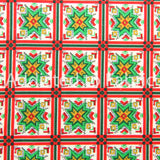 Christmas Fabric by the Yard or Half Yard, Cotton, Nordic Snowmen Collection, Oakhurst Textiles