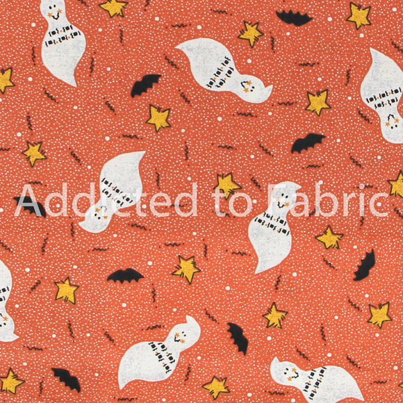 Flying Ghosts Halloween Fabric by the Yard, by the Half