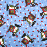 Snowman Christmas Fabric by the Yard, by the Half Yard, Cotton
