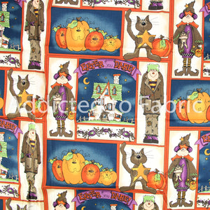 Quick as a Wink by Rebecca Carter, Fabric by the Yard, Halloween