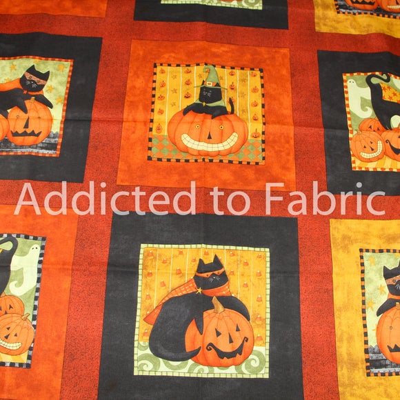 Boo Kitty Halloween Fabric by the Yard, by the Half Yard, by Teresa Kogut, SSI