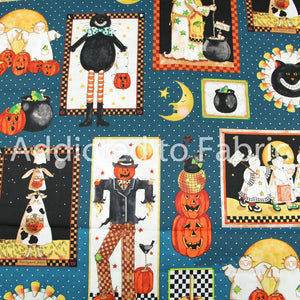 Sandy Gore Evans, Halloween Patch, Quilting Fabric by the Yard, by the Half Yard