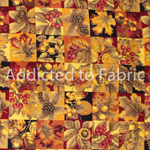 VIP Cranston, Beautiful Autumn/Fall Fabric by the Yard, by the Half Yard