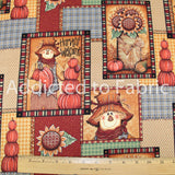 Harvest Welcome by Mindy Cain, Fabric by the Half Yard, Thanksgiving, Fall, Autumn