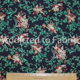 Less than Half Yard Fabric, Christmas Cupids, Cranston
