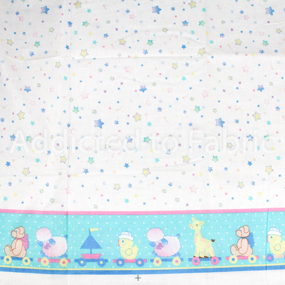 Double Border Fabric by the Yard, by the Half Yard, Nursery Fabric, Baby