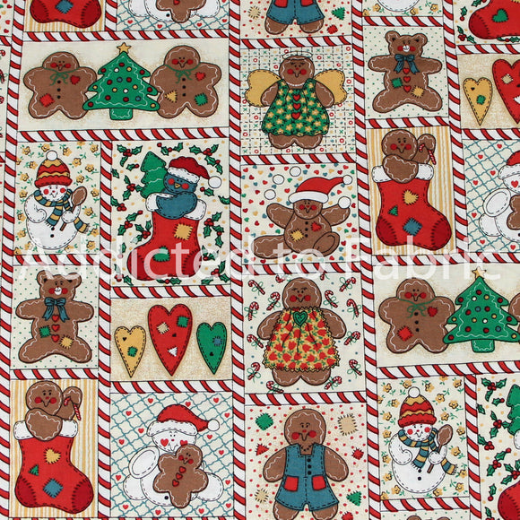 Gingerbread, Christmas Fabric by the Yard, by the Half Yard