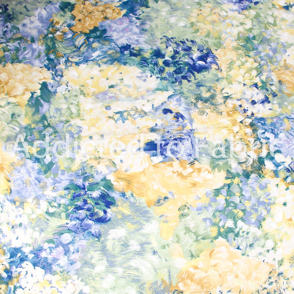 Upholstery Fabric, Interior Design Floral Fabric, Less than 1 Yard (56
