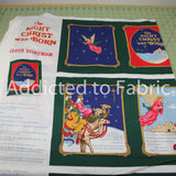 The Night Christ was Born, Christmas, Cloth Storybook Fabric by the Yard, Panel