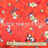 Jelly Bean Junction Fabric, Nursery Fabric, Bears, Bunnies and Pups