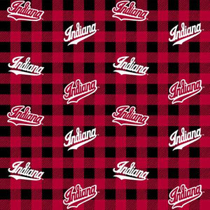 Indiana University Hoosiers Fabric by the Yard, Fabric by the Half Yard, Buffalo Plaid
