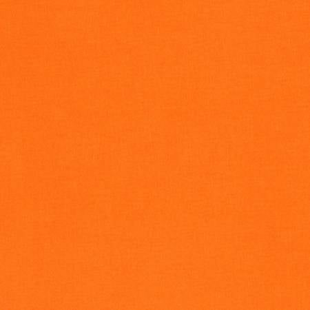 KONA Orange Solid Fabric by the Yard and Half Yard, Robert Kaufman