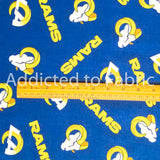 Los Angeles Rams Fabric by the Yard or Half Yard, NFL Cotton Fabric, New Colors